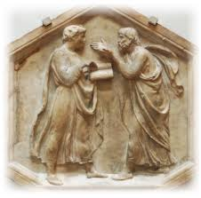 picture of roman or greek debaters