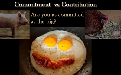 Commitment or Contribution, the pig or the chicken